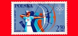 POLONIA - POLSKA - Nuovo Oblit. - 1980 - Giochi Olimpici 1980 - Mosca - Tiro Con L'arco - 2.50 - 1944-.... Repubblica