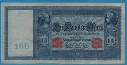 DEUTSCHES REICH 100 Mark  21.04.1910Serial# No G.0874022 KM# 42 - [ 2] 1871-1918 : German Empire