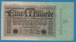 DEUTSCHES REICH 1 Milliarde Mark05.09.1923Serial# 2AG083532  KM# 114 - 1918-1933: Weimarer Republik