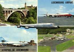 AEROPORT DE LUXEMBOURG  RV Beau Timbre 3F Flamme 1974 Année Mondiale De La Jeunesse Philatelique - Aérodromes