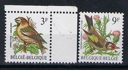 Belgie OCB 2189 / 2190 (**) Pa7 Typo Papier. - 1985-.. Pájaros (Buzin)