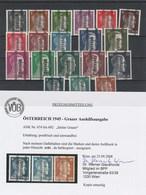 Grazer Mi. Nr. 674 - 692 Postfrisch Mit Befund Dr. Glavanovitz - 1945-.... 2ème République