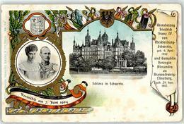 52917130 - Grossherzog Friedrich Franz IV. Herzogin Alexandra Braunschweig - Familles Royales