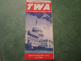 TWA - Fly To And Across The U.S.A. On ONE AIRLINE! - Effective November 1, 1953 (12 Pages) - Horaires