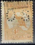 DO 7425  AUSTRALIË  GESTEMPELD  YVERT NR DIENST D6B ZIE SCAN - Service