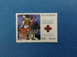 1999 SAN MARINO FRANCOBOLLO NUOVO STAMP NEW MNH** - Croce Rossa - - Nuovi