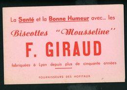 """BUVARD:  La Santé Et La  Bonne Humeur Avec Les Biscottes """"mousseline """"F. GIRAUD - Biscottes"""