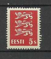 ESTLAND Estonia 1928 Michel 77 Thin Paper Type * - Estonie