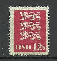 ESTLAND Estonia 1928 Michel 80 Thin Paper Type MNH - Estonie