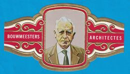 1 BAGUE DE CIGARE GRAND FORMAT BOUWMEESTERS ARCHITECTES J.J.P. OUD NEDERLAND PAYS BAS   (  119 MM ) - Bagues De Cigares