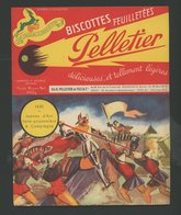 """BUVARD:  BISCOTTES FEUILLETÉES PELLETIER  - ROMAINVILLE - """"1430 JEANNE D'ARC"""" - Biscottes"""