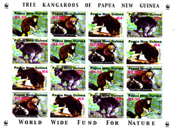 Papouasie Nouvelle Guinée 939 / 42 ( Feuille Complète ) / Protection De La Faune / Le Kangourou De Nouvelle Guinée / WWF - W.W.F.