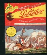 """BUVARD:  BISCOTTES FEUILLETÉES PELLETIER  - ROMAINVILLE - """"1794 LE BATEAU LE VENGEUR"""" - Biscottes"""