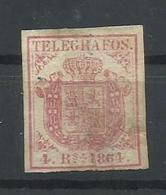 ESPAÑA EDIFIL TELEGRAFOS 2 - 1850-68 Kingdom: Isabella II