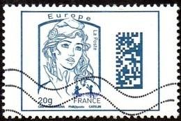 Oblitération Moderne Sur Timbre De France N° 4975 - Marianne De Ciappa Et Kawena Datamatrix Europe - France