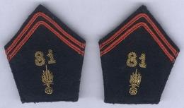 Pattes De Col Du 81e Régiment D'Infanterie Alpine - Ecussons Tissu