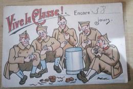Cp Militaire Belge Vive La Classe - Humour