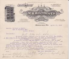 WISCONSIN MILWAUKEE COURRIER 1909 Ornements D' église  The WILTZIUS Co. Mour - X27 Church Ornaments - United States