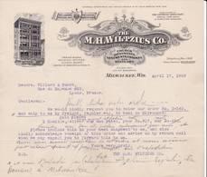 WISCONSIN MILWAUKEE COURRIER 1909 Ornements D' église  The WILTZIUS Co. Mour - X27 Church Ornaments - Etats-Unis