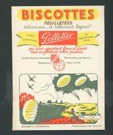 """BUVARD:  BISCOTTES FEUILLETÉES PELLETIER  - ROMAINVILLE - """" L'AIR """" - Biscottes"""