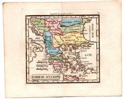Gravure : Carte De TURQUIE D'EUROPE (Grèce)   En Couleurs (vers 1830) (PPP17146/ 19) - Carte Geographique