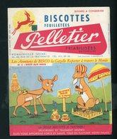 """BUVARD:  BISCOTTES FEUILLETÉES PELLETIER  - ROMAINVILLE - """" N°3 LES AVENTURES DE BISCO """" - Biscottes"""