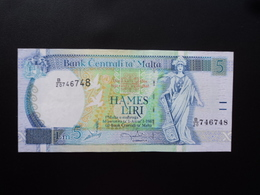 MALTE : 5 LIRI  L.1967 (1994)   P 46 *    SUP+ - Malta