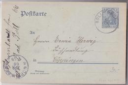 BAD BOLL POSTKARTE 06.04.1906 NACH GÖPPINGEN - Germany
