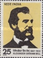 USED STAMPS India - Alexander Graham Bell Commemoration -  1975 - India