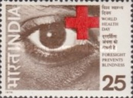 USED STAMPS India - World Health Day. Prevention Of Blindness -  1975 - India
