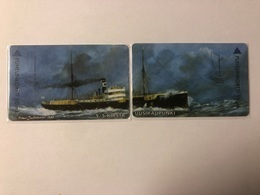 Finland -  S/S Kirsta Uusikaupunki - Puzzle Of 2 Cards - Ship - 1000 Ex - Finland