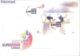 Portugal 2008 Mi Bl264 FDC ( XFDC ZE1 PRTbl264 ) - Judo