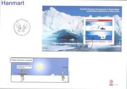 Greenland 2010 Mi Bl50 FDC ( FDC ZE3 GNLbl50 ) - Thule