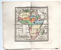 Gravure : Carte De AFRIQUE  En Couleurs (vers 1830) (PPP17146/25) - Geographical Maps
