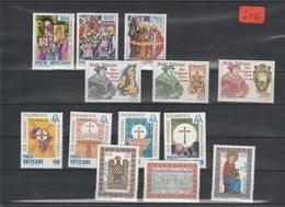 Vatikan    Poste Vaticani   Postfrisch**     MiNr. 867-879 - Vatikan