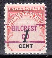 USA Precancel Vorausentwertung Preo, Locals Colorado, Gilcrest 841 - Vereinigte Staaten
