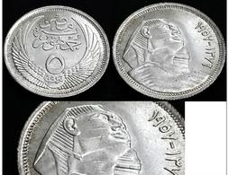 EGYPT - 5 Piastres - 1957 AH1376 -KM 379 - SILVER - UNC - Egypte