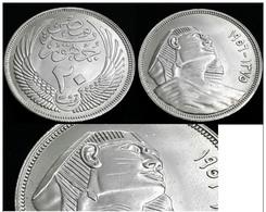 EGYPT - 20 Piastres - 1956 AH1375 -KM 384 - SILVER - UNC - Egypte