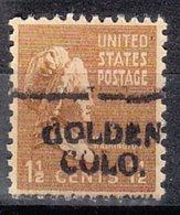 USA Precancel Vorausentwertung Preo, Locals Colorado, Golden 701 - Vereinigte Staaten