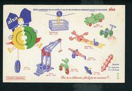 BUVARD:  FLAN ET ENTREMETS ALSA (ALSATICK) - Buvards, Protège-cahiers Illustrés