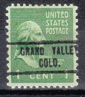 USA Precancel Vorausentwertung Preo, Locals Colorado, Grand Valley 734 - Vereinigte Staaten