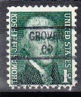 USA Precancel Vorausentwertung Preo, Locals Colorado, Grover 841 - Vereinigte Staaten