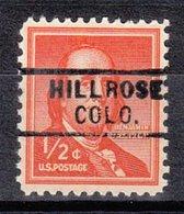 USA Precancel Vorausentwertung Preo, Locals Colorado, Hillrose 729 - Vereinigte Staaten