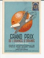 Carte Grand Prix De L'Orange D'Oranie, Algérie / Course Internationale De Vitesse Pour Avions Légers , 1949 - Algérie (1924-1962)