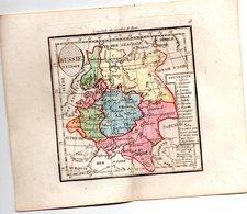 Gravure : Carte De RUSSIE D'EUROPE  En Couleurs (vers 1830) (PPP17146/ 18) - Carte Geographique