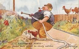 """Fred Buchanan. Gardening Hints. Garen Pests Should Be.."" Tuck Oiette PC # 3616 - Tuck, Raphael"