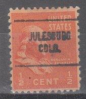 USA Precancel Vorausentwertung Preo, Locals Colorado, Julesburg 704 - Vereinigte Staaten