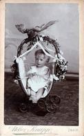 CDV Tirage Photo Albuminé Cartonné République Tchèque -  Znojmo  (Znaim) Bébé Carl Wilfert - F. Knapp 1890/1900 - Fotos