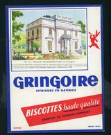 BUVARD:  BISCOTTES GRINGOIRE - PITHIVIERS EN GATINAIS - N°54 PAVILLON DE BAGATELLE - Biscottes