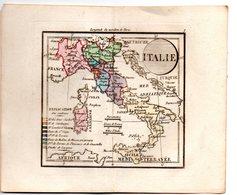 Gravure : Carte De ITALIE En Couleurs (vers 1830)    (PPP17146/ 07) - Cartes Géographiques